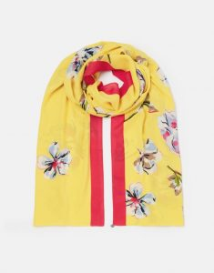 Joules Conway Printed Scarf - Yellow Floral