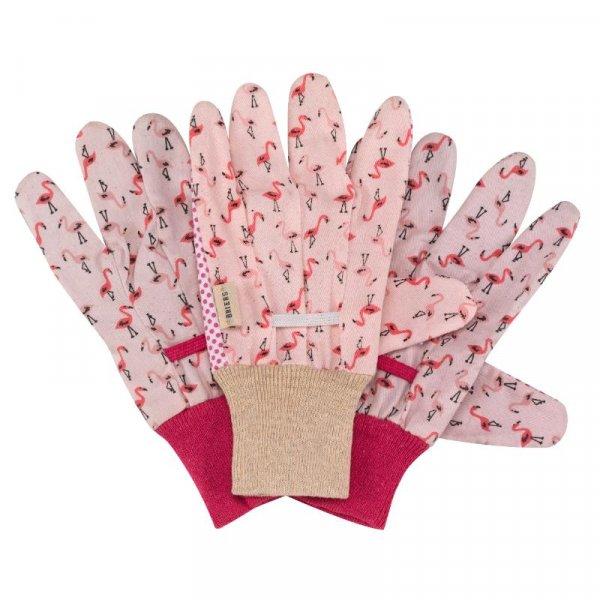 Smart Garden Flamboya Flamingo Cotton Grip Gloves - Triple Pack - Medium