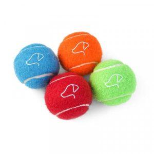 Pooch 5cm Mini Tennis Balls - 4 Pack