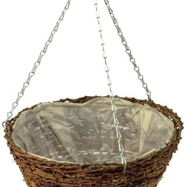 "Apollo Rattan Hanging Basket 12""/30.5cm"
