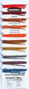 Semperfli Dry Fly Polyyarn Sample Card