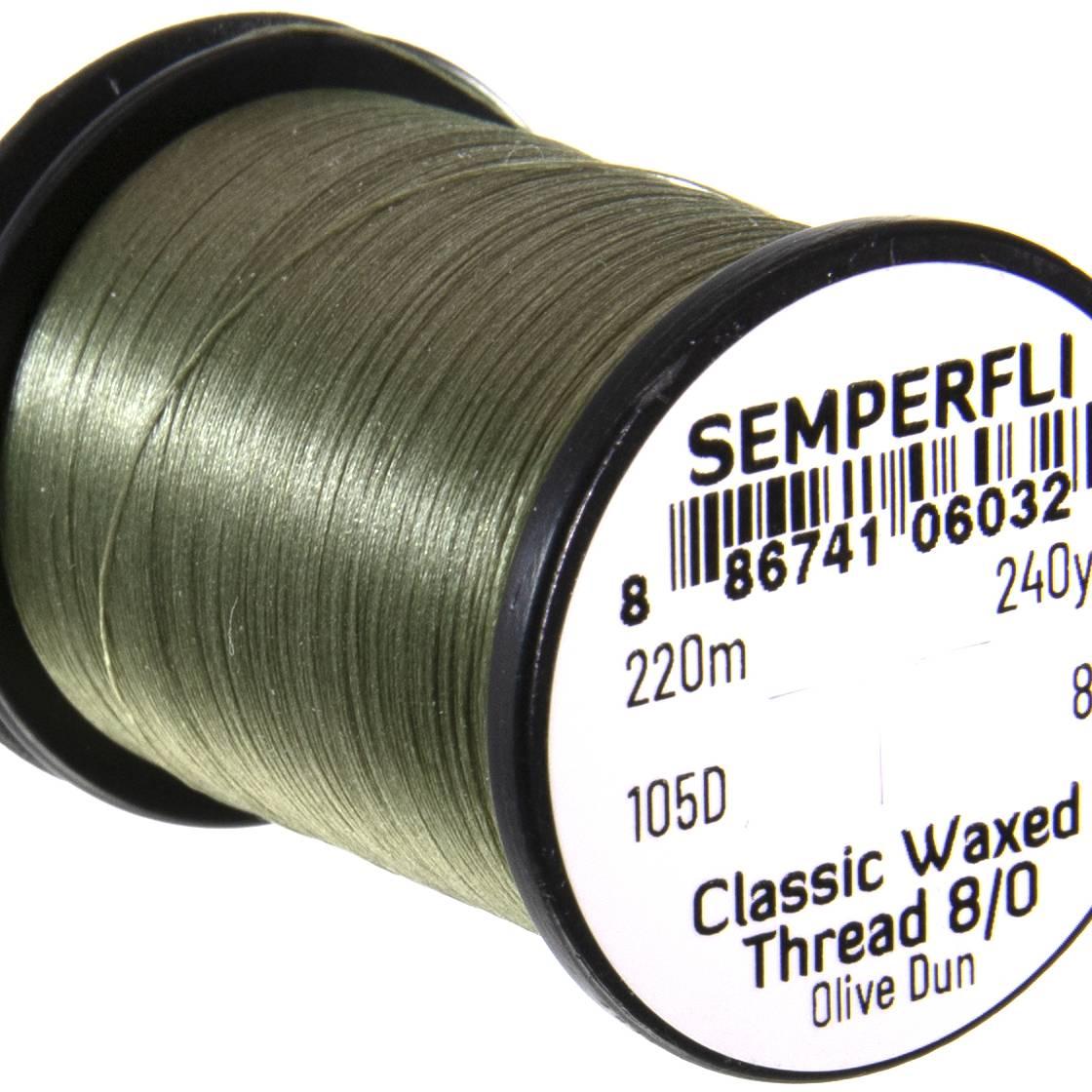 Semperfli Classic Waxed Thread 8/0 240 Yards Olive Dun