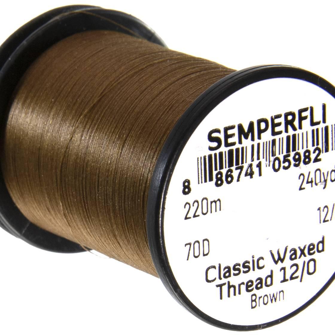 Semperfli Classic Waxed Thread 12/0 240 Yards Brown