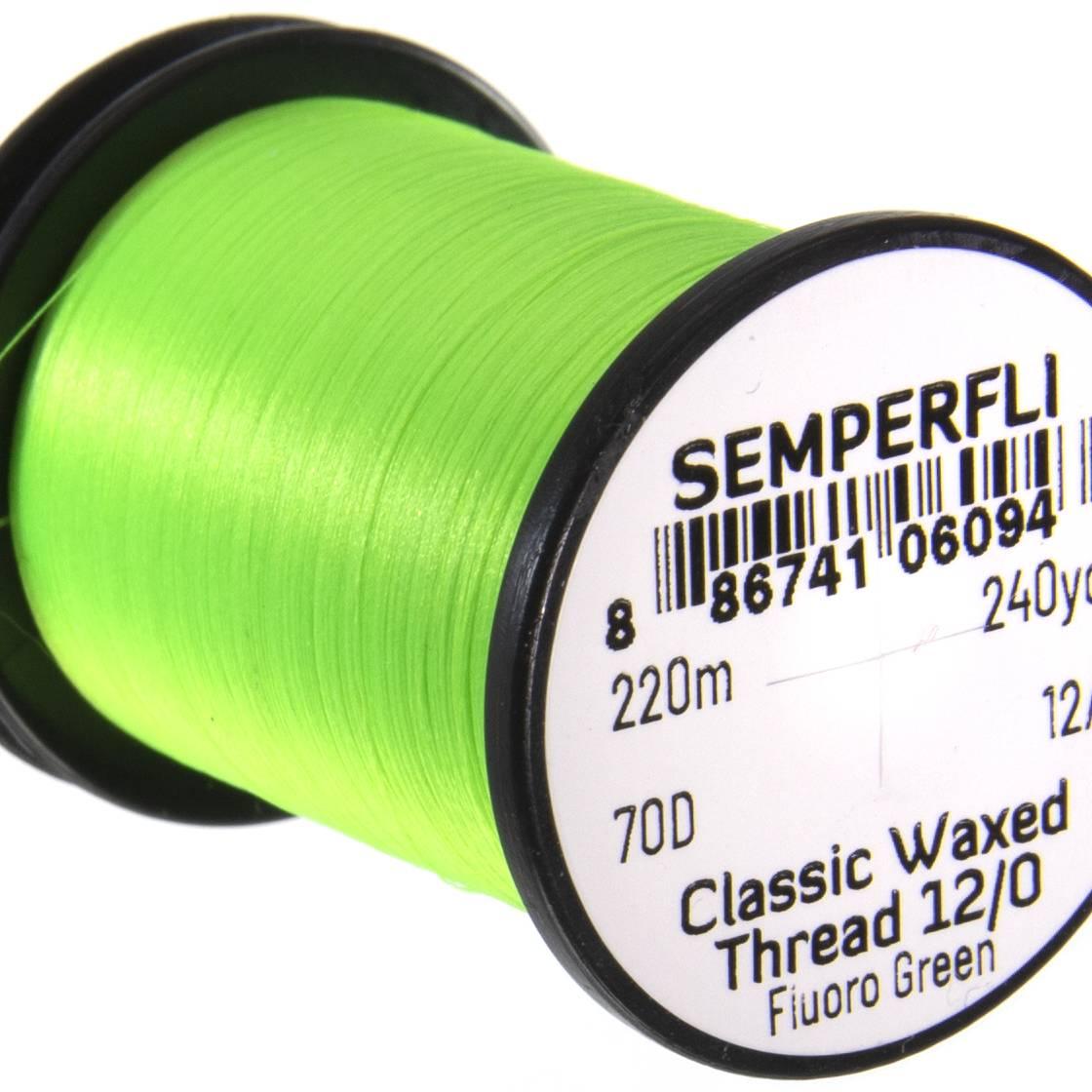 Semperfli Classic Waxed Thread 12/0 240 Yards Fluoro Green