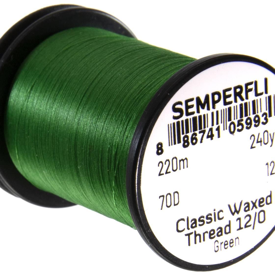 Semperfli Classic Waxed Thread 12/0 240 Yards Green