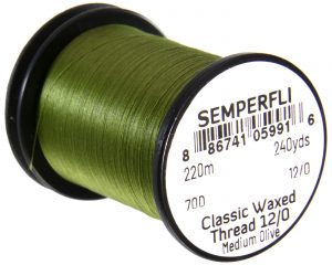 Semperfli Classic Waxed Thread 12/0 240 Yards Medium Olive