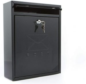 Burg Wachter Ster Compact Postbox - Black