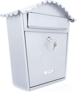 Burg Wachter Classic Postbox - Silver