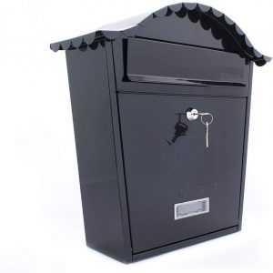 Burg Wachter Ster Classic Postbox Blk  Mb01Bk*