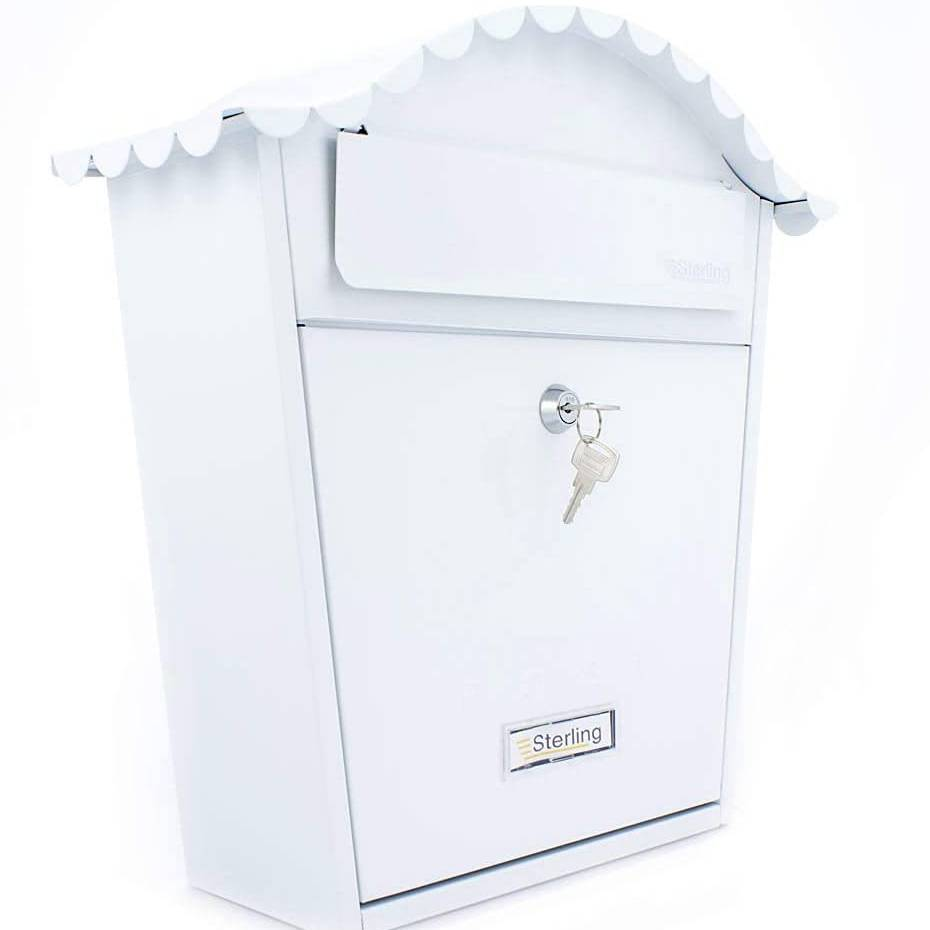 Burg Wachter Ster Classic Postbox Wht    Mb01