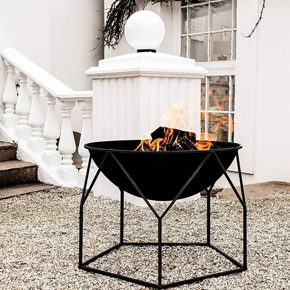 Ivyline Outdoor Buckingham Firebowl Black H55cm W70cm