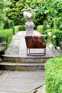 Ivyline Outdoor Norfolk Firebowl Black Iron H44.5Cm W52Cm
