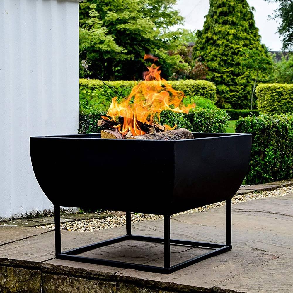 Ivyline Outdoor Windermere Firebowl Black Iron H35Cm W50Cm