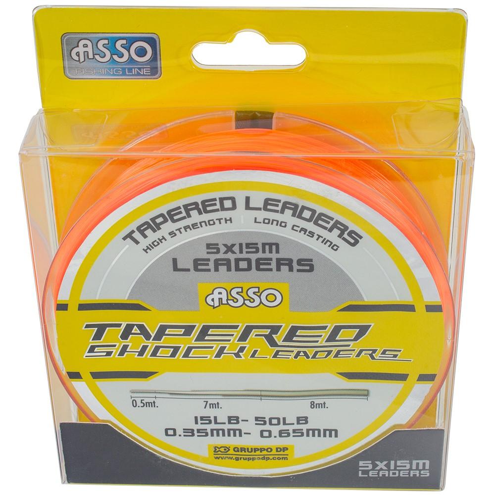 Asso Protector Tapered Leader Orange 15lb-50lb