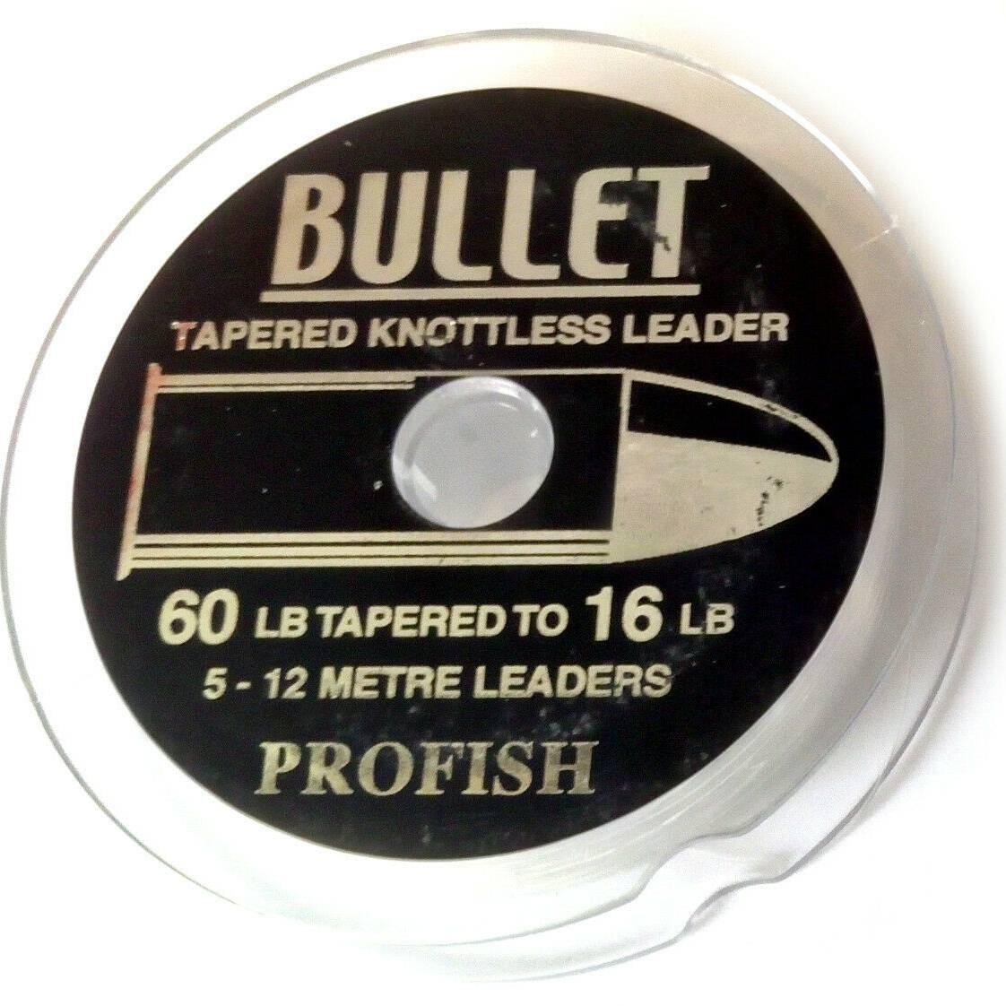 Bullet Tapered Shockleader, 16-60Lb 5X12M