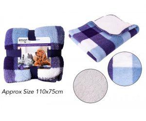 Sweet Dreams Pattern Sherpa Blanket Blue 110X75Cm
