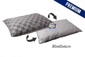 Sweet Dreams Grey Checkered Pet Cushion 80X60X6Cm