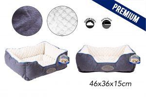Sweet Dreams Blue Pet Bed Small 46X36X15Cm