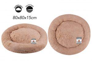 Sweet Dreams Snuggle Pet Bed Large Brown 80X80X15Cm