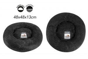 Sweet Dreams Snuggle Pet Bed S Dark Grey 48x48x13cm