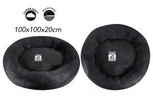 Sweet Dreams Snuggle Pet Bed XL Drk/Grey 100x100x20cm
