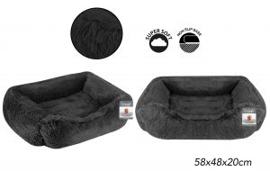 Sweet Dreams Snuggle Pet Bed M Dark Grey 58x48x20cm