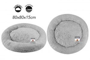 Sweet Dreams Snuggle Pet Bed L Grey 80x80x15cm