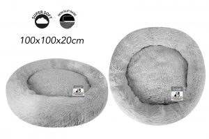 Sweet Dreams Snuggle Pet Bed XL Grey 100x100x20cm