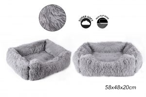 Sweet Dreams Snuggle Pet Bed M Grey 58x48x20cm