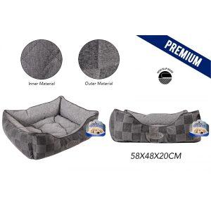 Sweet Dreams Checkered Pet Bed Medium 58X48X20Cm