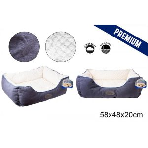 Sweet Dreams Blue Pet Bed Medium 58X48X20Cm