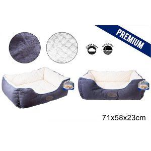 Sweet Dreams Blue Pet Bed Large 71X58X23Cm