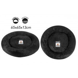 Sweet Dreams Snuggle Pet Bed M Dark Grey 65x65x13cm