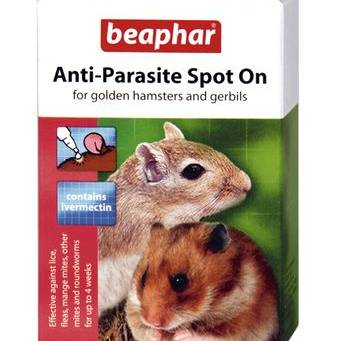 Beaphar Anti-Parasite Spot-On (Hamster/Gerbil) 2 x 25ug pipettes