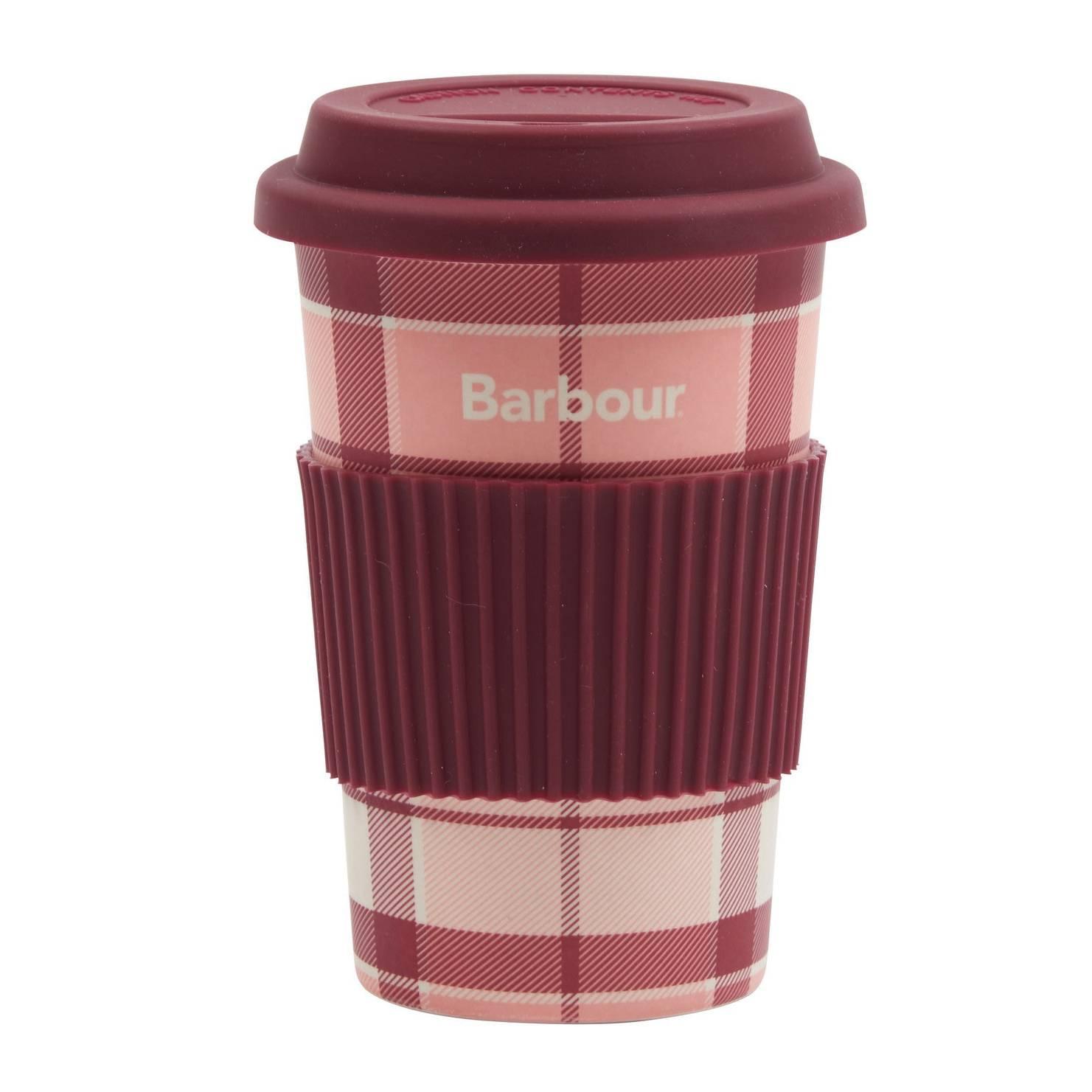 Barbour Tartan Travel Mug - Pink/Red