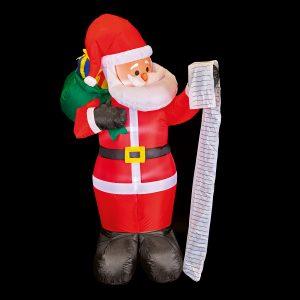 Premier 1.8M Inflatable Santa Name List