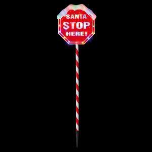 Premier 1.1m SANTA STOP HERE Landmark