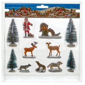Premier 11pc Christmas Village Accessories