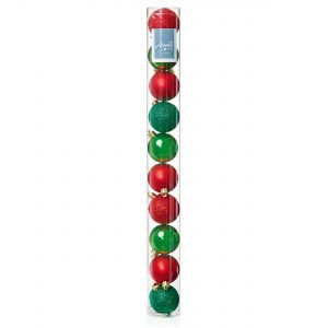 Premier 10 x 60mm Red-Green Multi Baubles