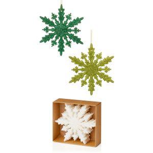 Premier 10cm x 6pc Green-White Glitter