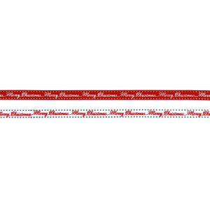 Premier 1cm x 2.7M 2 Asst Finishing Ribbon - Merry Christmas