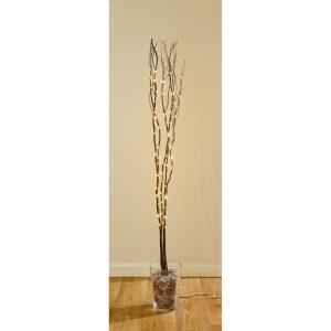 Premier 1.2m Black Twig with 80 Warm White LEDs