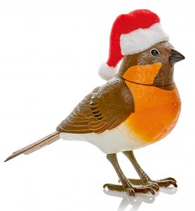 Premier 12.5cm Christmas Robin with Santa Hat