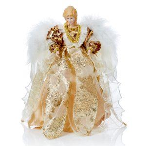Premier 30cm Tree Top Angel Ivory-Gold