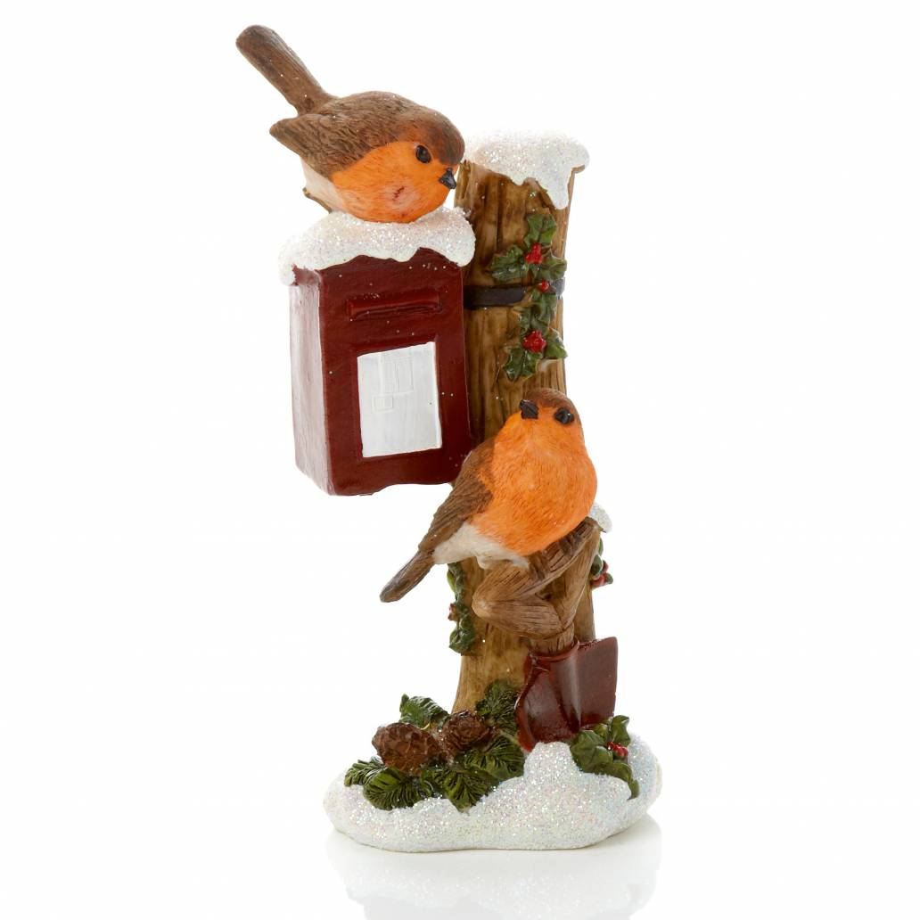 Premier 18cm Robins on Post Box Ornament