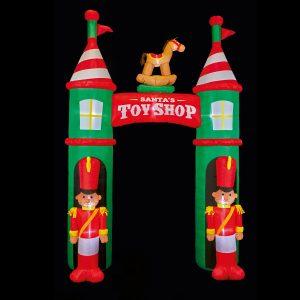 Premier 3m Toy Shop Inflatable Arch with Nutcracker Guards